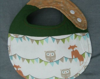 Foxes and Owls Baby Bib (Waterproof)