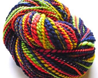 Neon Brights--Hand Dyed, Hand Spun Multi-Colored Merino Wool Yarn, 2 ply, 3.7 oz, 157 yards