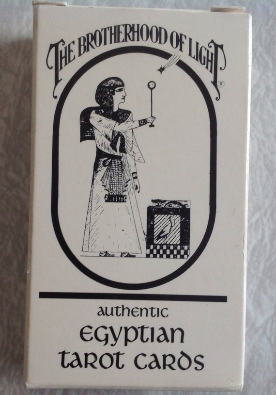 Egyptian Tarot Kit Deck Book Loscar: Egyptian Tarot Cards Brotherhood Of Light 1964//
