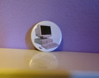 90s Computer 1.25 inch button