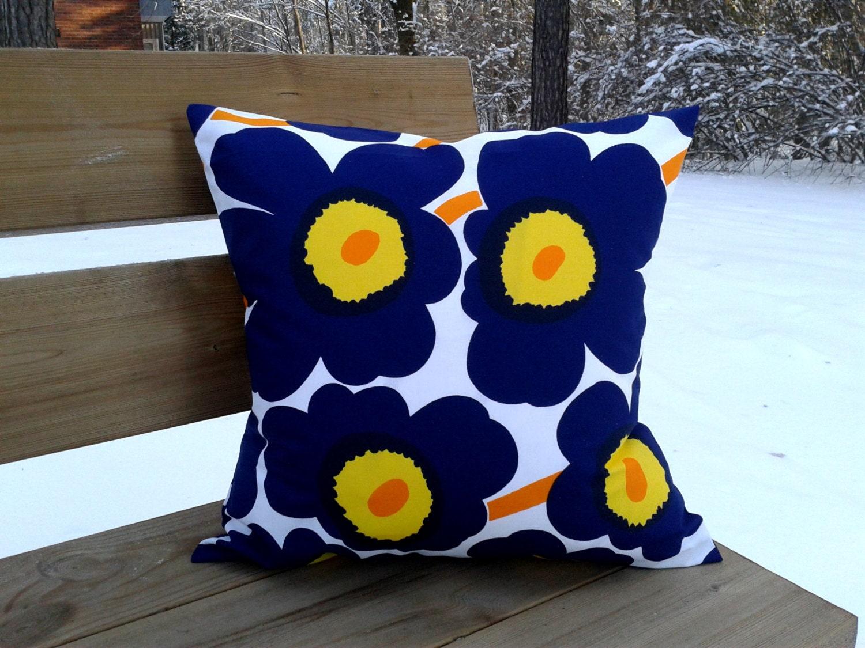 Scandinavian Pillow Cases : Pillow cover made from Marimekko fabric Unikko pillow case or