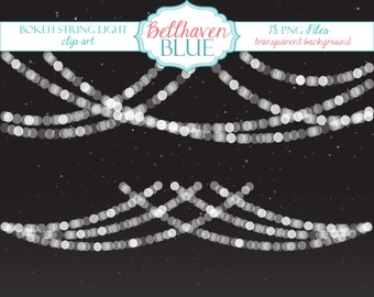 Bokeh String Light Clipart