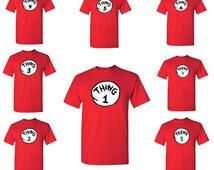 Thing 1 Thing 2 - Funny - Party - Mens Tshirt -  Tees -shirt - Tshirt