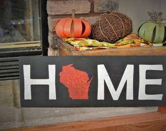 Wisconsin Badgers Painted Home Wisconsin Sign