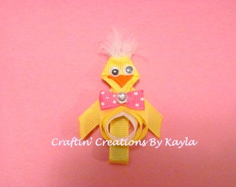 Easter Chick Ribbon Sculpture