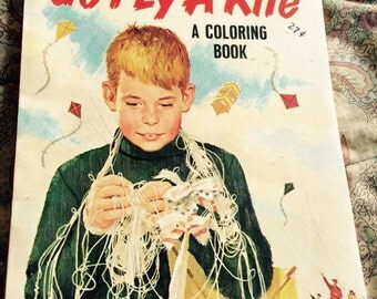 Go Fly A Kite Vintage Coloring Book