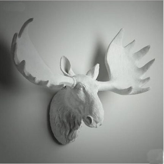 Animal Head Wall Decor White : Items similar to white moose head wall hanging