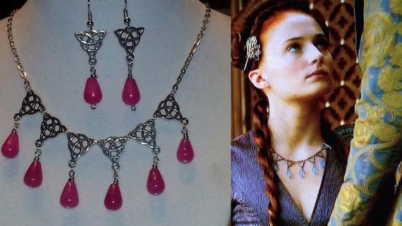Game Of Thrones Sansa Purple Wedding Celtic Brass Rasberry