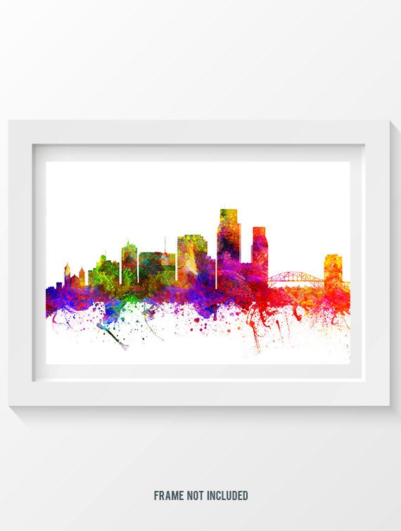 home decor stores corpus christi corpus christi skyline in color poster home decor gift 12464
