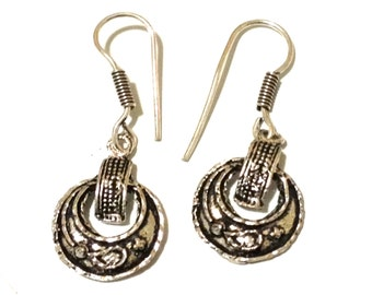 Handmade From Old German Silver Earrings