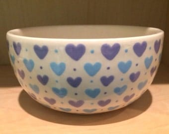 Kawaii Cute Candy Hearts Design Breakfast Bowl