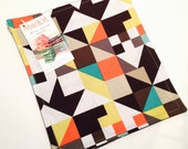 Cloth Dinner Napkins | Modern Art Geometric | Set of 4
