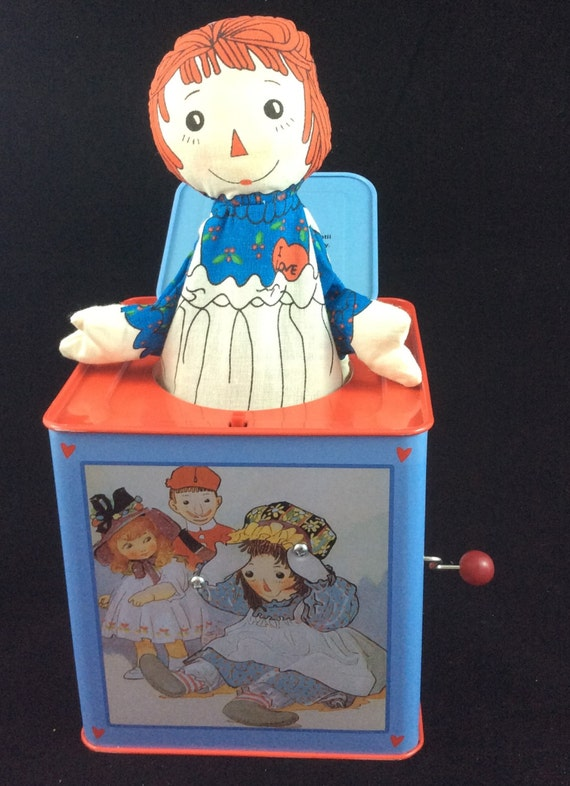 raggedy ann and andy jack in the box by schylling. Black Bedroom Furniture Sets. Home Design Ideas