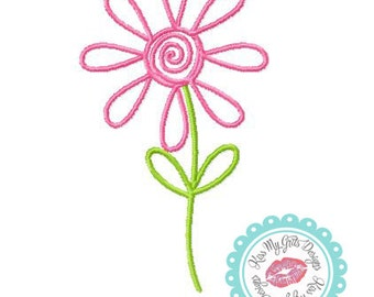 Doodle Flower Machine Embroidery Design