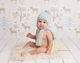 SALE Photography Backdrop, Newborn Photography Backdrop, Vinyl Photography Backdrop, Baby Photography Background Winter Forest - PTRN140
