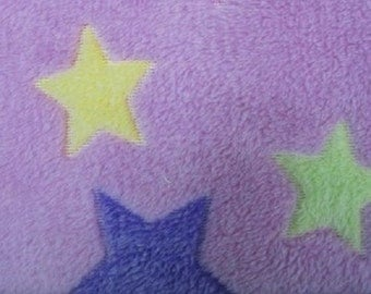 Stars on pink cuddle fleece