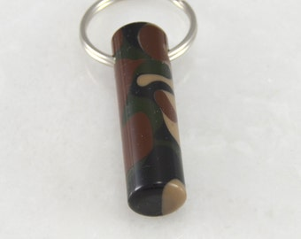 LDS Oil Vial made out of Woodland Camouflage Acrylic