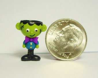 Miniature Frankenstein Halloween  Candy dish ooak hand sculpted by Smarti