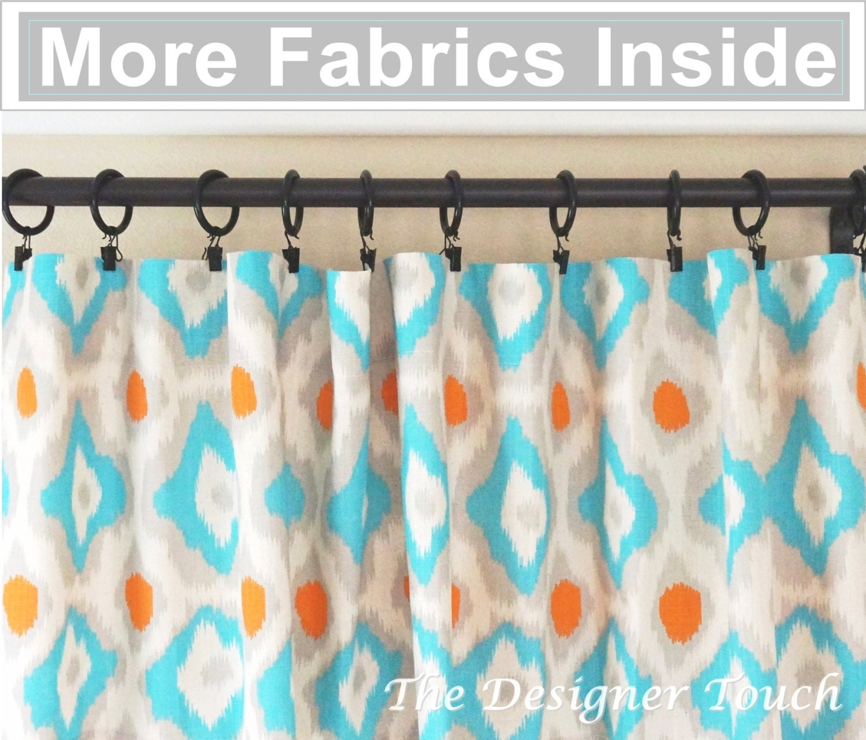 orange curtain panels aqua blue curtains nursery curtains. Black Bedroom Furniture Sets. Home Design Ideas