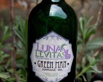 Green Man Vegan Fibromyalgia, Arthritis, Rheumatism, Joint pain Massage oil with Eucalyptus, Rosemary, Turmeric, Black Pepper,Juniperberry