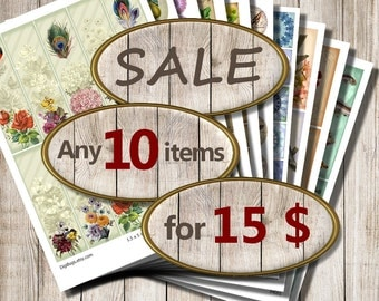 Summer SALE , Any 10 items for only 15 dollars , Digital Files, Instant Download, Coupon Code, DigiBugs
