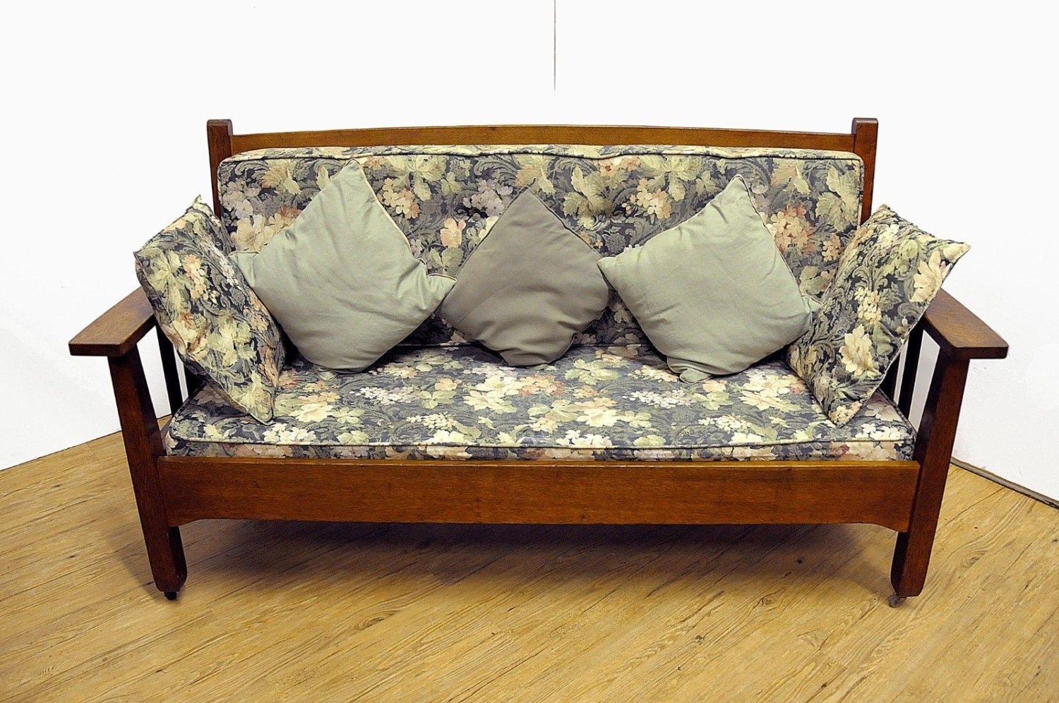Oak Sofa Set ~ Antique mission style oak couch sofa furniture by
