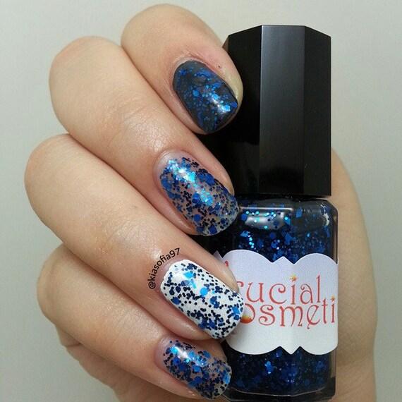 Blue Glitter Bomb Handmade Indie Nail Polish