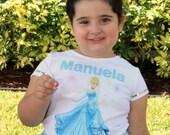 Cinderella Personalized Shirt, Cinderella T-shirt, Cinderella Outfit, Cinderella Birthday Outfit, Girls Cinderella Shirt, Princess Shirt