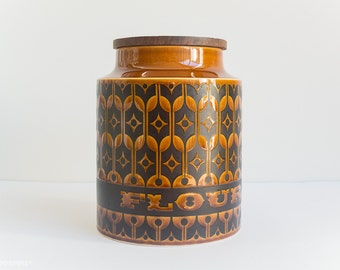Hornsea Heirloom Large Flour Canister - Brown Black