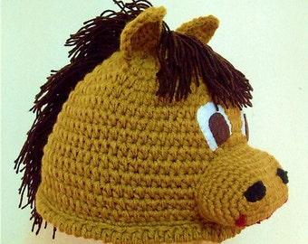 Horse Crochet Hat (Free shipping)