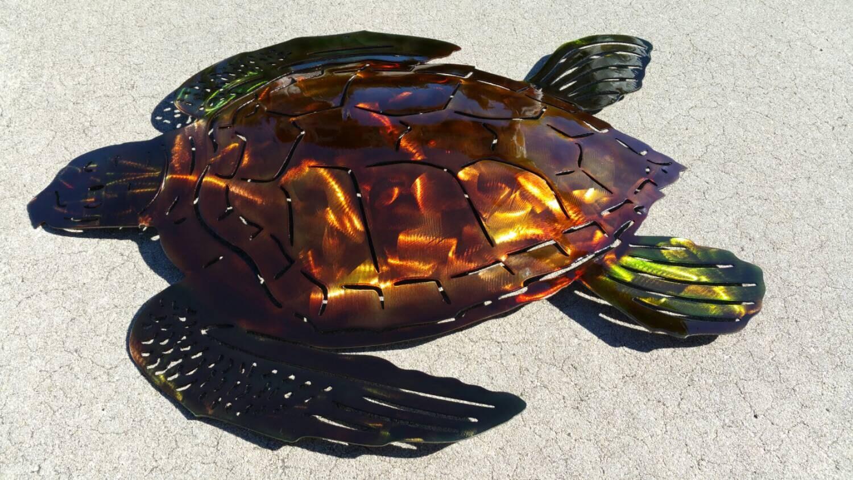 Sea Turtle Wall Art, Metal Wall Art Sea Turtle, Outdoor Art, Beach Decor,  Beach House Decor, Patio Decor, Metal Home Decor, Turtle Love