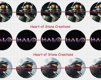 Halo Bottle Cap Image Sheet
