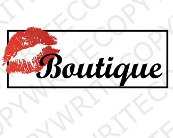 Five Dollar Logo, Boutique Logo, Kiss Logo, Customize your business name, Digital PDF and PNG file,
