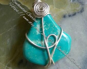 Turquoise Pendant ooak