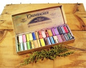 Pastels, Vintage Grumbacher, Half Size, Thirty in Box, Art Supplies, Decor Accent