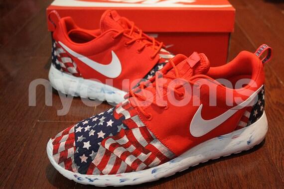 Items Similar To Men Sizes 9 Amp 13 Nike Roshe Run Red