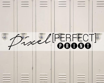 "6ft x 6ft ""High School Lockers"" Vinyl Backdrop // Vinyl Backdrops // Vinyl Photography Backdrop // School Locker Backdrops (PP241)"
