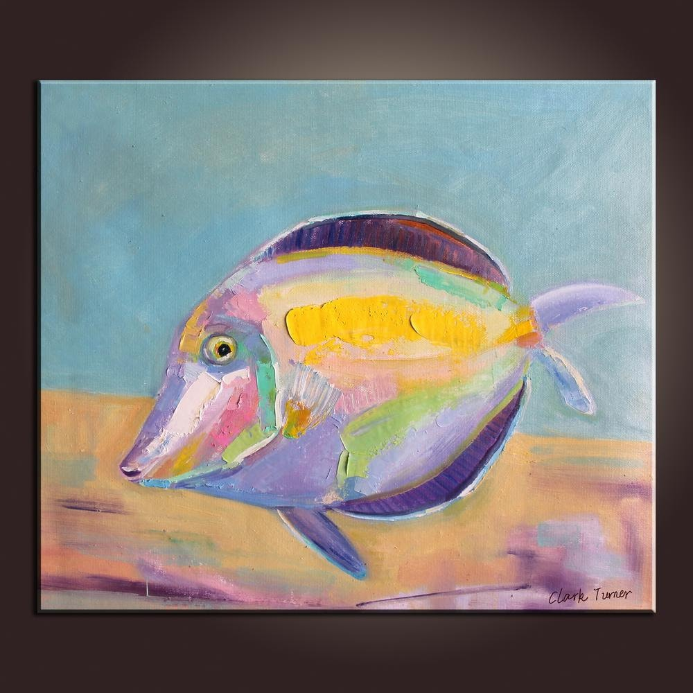 Colorful Tropical Fish Painting Oil Painting Abstract Art