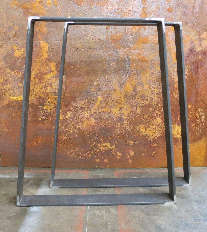 metal table legs flat bar trapezoid. Black Bedroom Furniture Sets. Home Design Ideas
