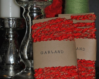 Red and Gold Garland.  12 feet long.  Beautifully packaged and ready to gift!