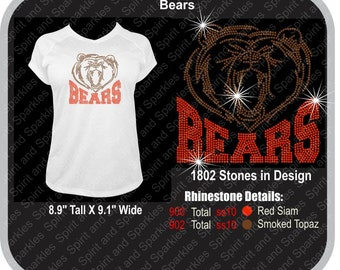 Bears Rhinestone T-Shirt, Tank or Hoodie
