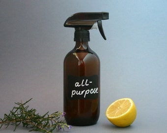 500ml amber glass spray bottle with chalkboard label