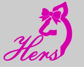 Browning Head His / Hers Car Decal