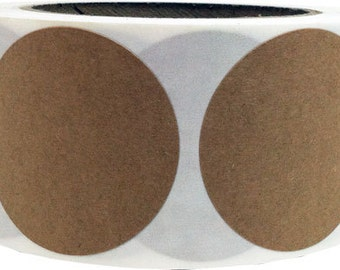 "3"" Inch Round Natural Kraft Paper Adhesive Labels - 500 Stickers"