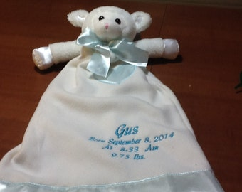 FREE DOMESTIC SHIPPING on Lynne the Lamb Lovie is reminiscent of the blanket Linus cuddled in the Charlie Brown movies