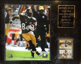 "Antonio Brown Pittsburgh Steelers 12""x15"" Sports photo Plaque"