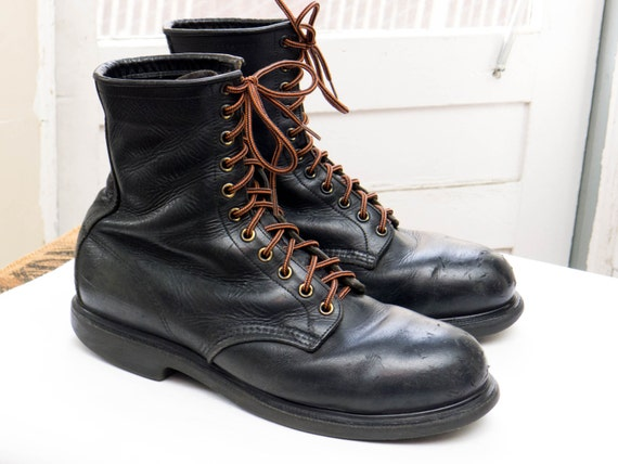 Vintage RED WING 4473 BOOTS sz 10 D Made in Usa Black