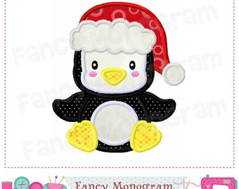 Penguin applique,Santa applique,Penguin design,Santa Claus,Christmas applique,Christmas,Christmas design,Machine Embroidery. - 01