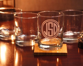Personalized Whiskey Glass, Whiskey Glass, Custom Etched Glassware, Whiskey Glasses, Etched Glass, Wedding Glasses, Personalized glass