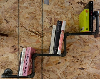 Step Down Pipe Book Shelf